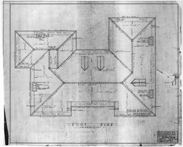 F.A. Heitman House, Houston, TX, 1926-1927, roof plan
