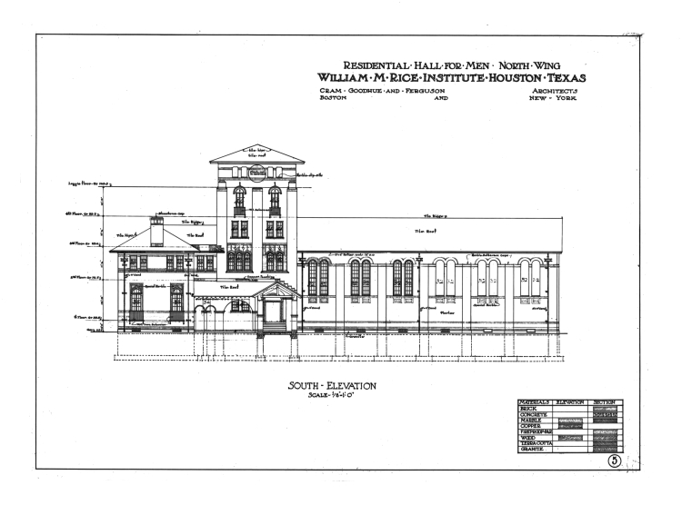 Architectural Drawing Sizes south facing side - baker college (east hall) architectural