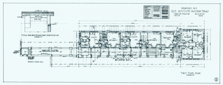 First Floor Plan Baker College East Hall Architectural Drawing