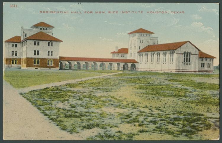 Residential Hall for Men postcard