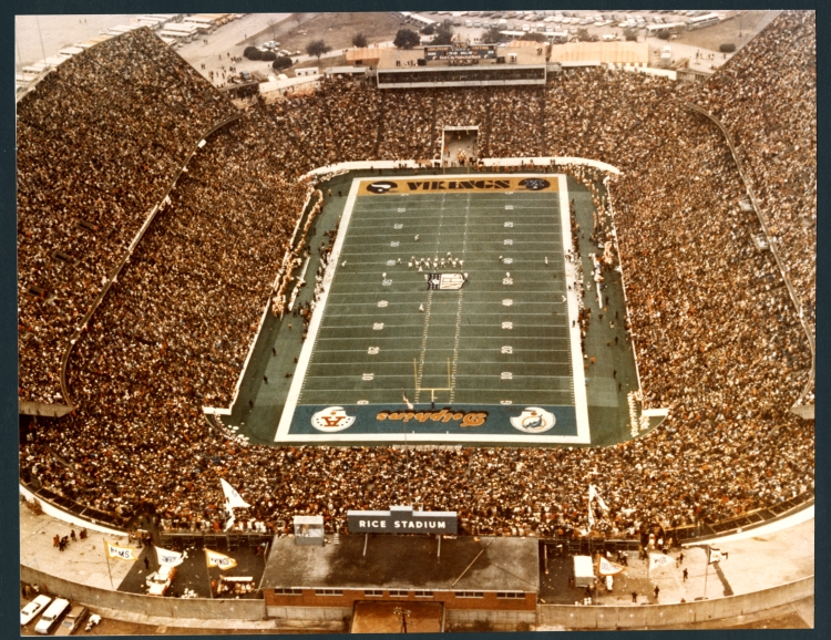 Super Bowl 1974 Football Game At Rice University  Aerial View