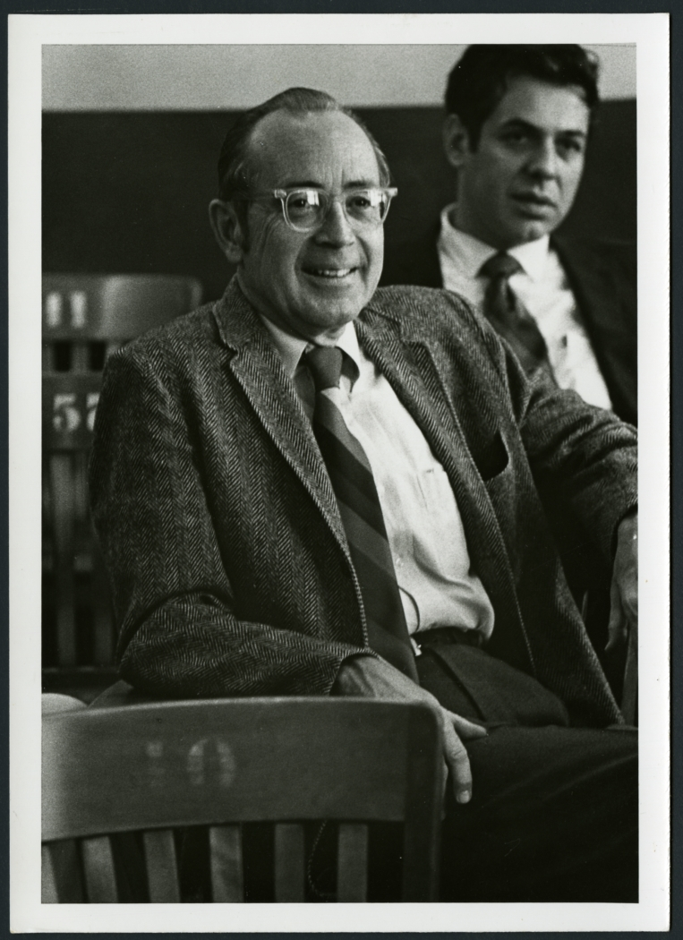 Dr. John E. Parish with Dr. Alan Grob in background