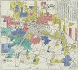 Street Map City Of Houston Texas Circa 1930