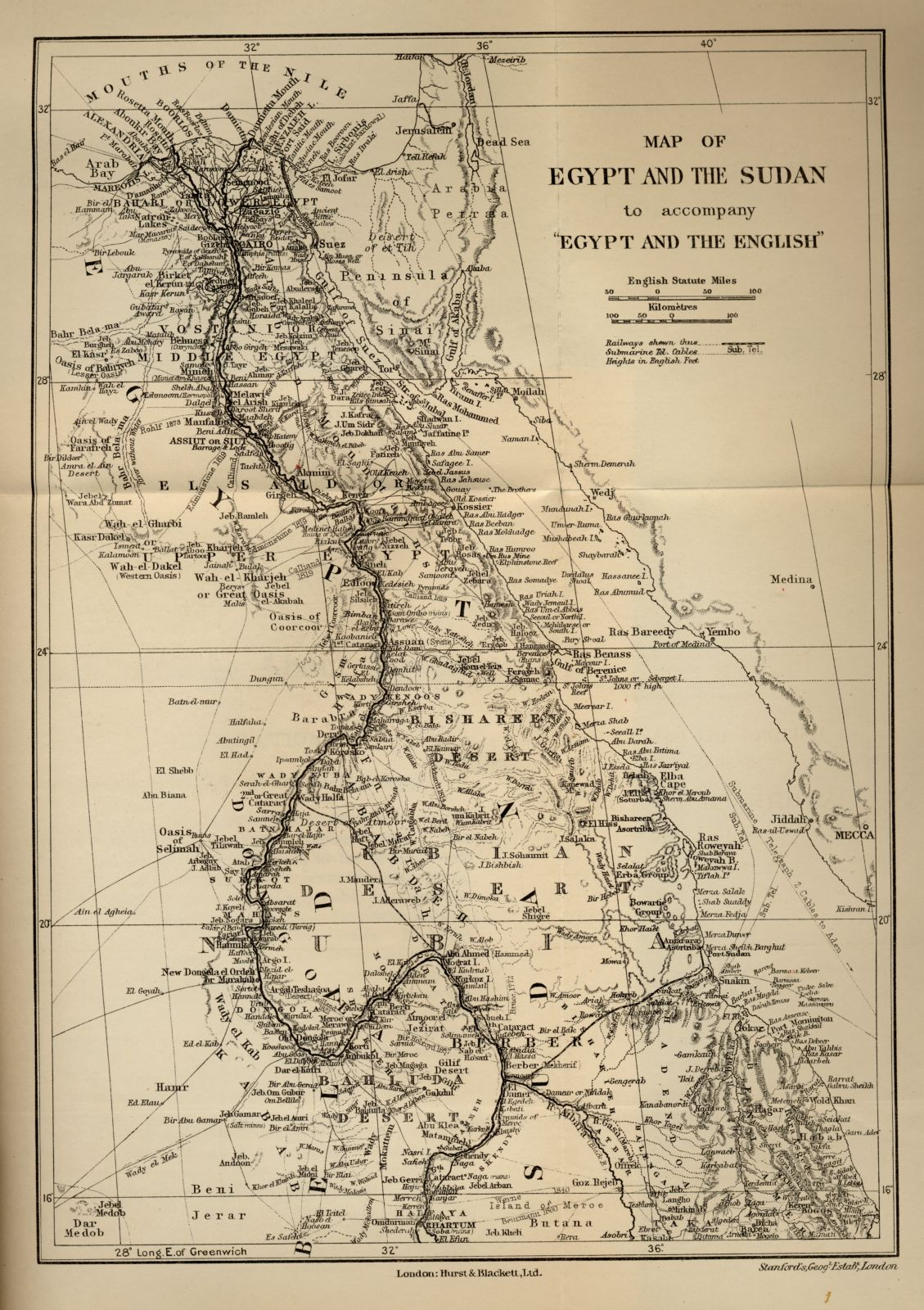 Map Of Egypt And The Sudan - Map of egypt and sudan