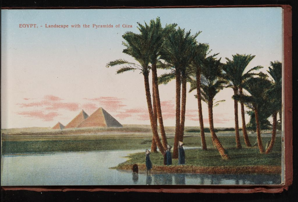 Egypt Landscape With The Pyramids Of Giza